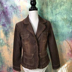 Live a Little Brown Denim Jacket